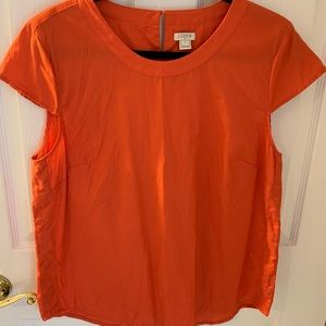 J.Crew Factory Coral cap sleeve blouse